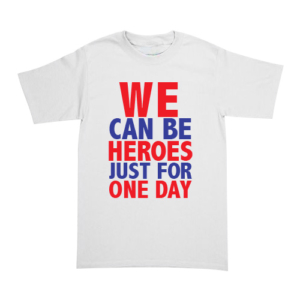 Playera David Bowie - Heroes