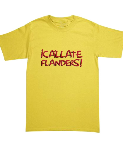 Playera The Simpsons - ¡Cállate Flanders!