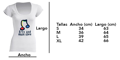 Tallas Blusas Creta - Arts And Music Store