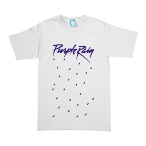 Playera Prince - Purple Rain - Blanca