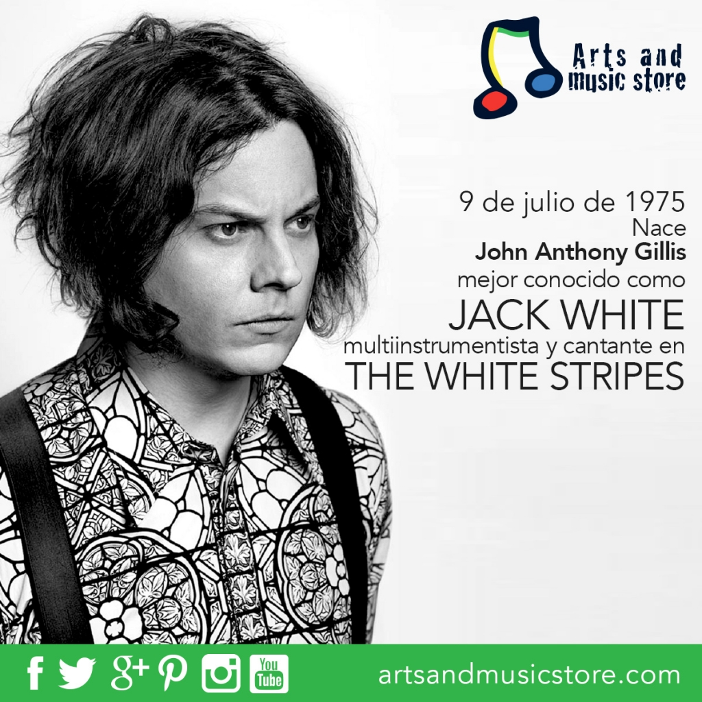 9 de julio de 1975 nace John Anthony Gillis mejor conocido como Jack White multiinstrumentista y cantante de The White Stripes.