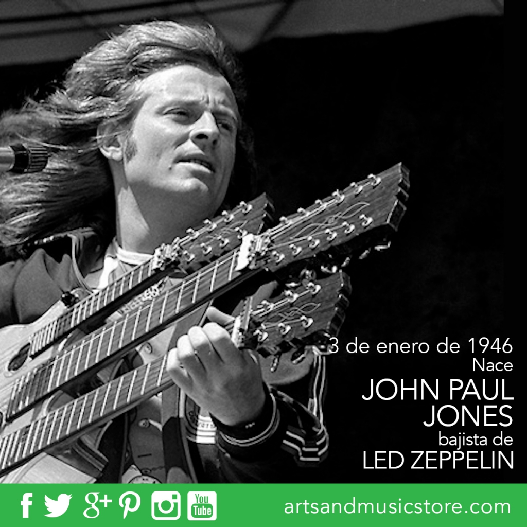3 de enero de 1946 nace John Paul Jones, bajista de Led Zeppelin