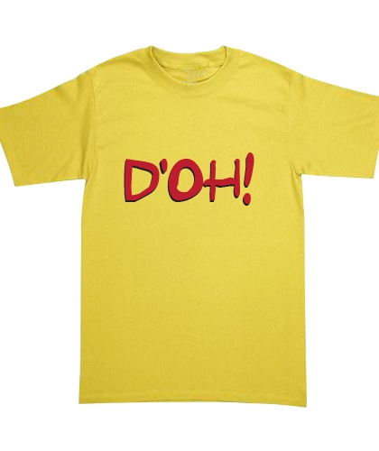 Playera The Simpsons - D'oh!