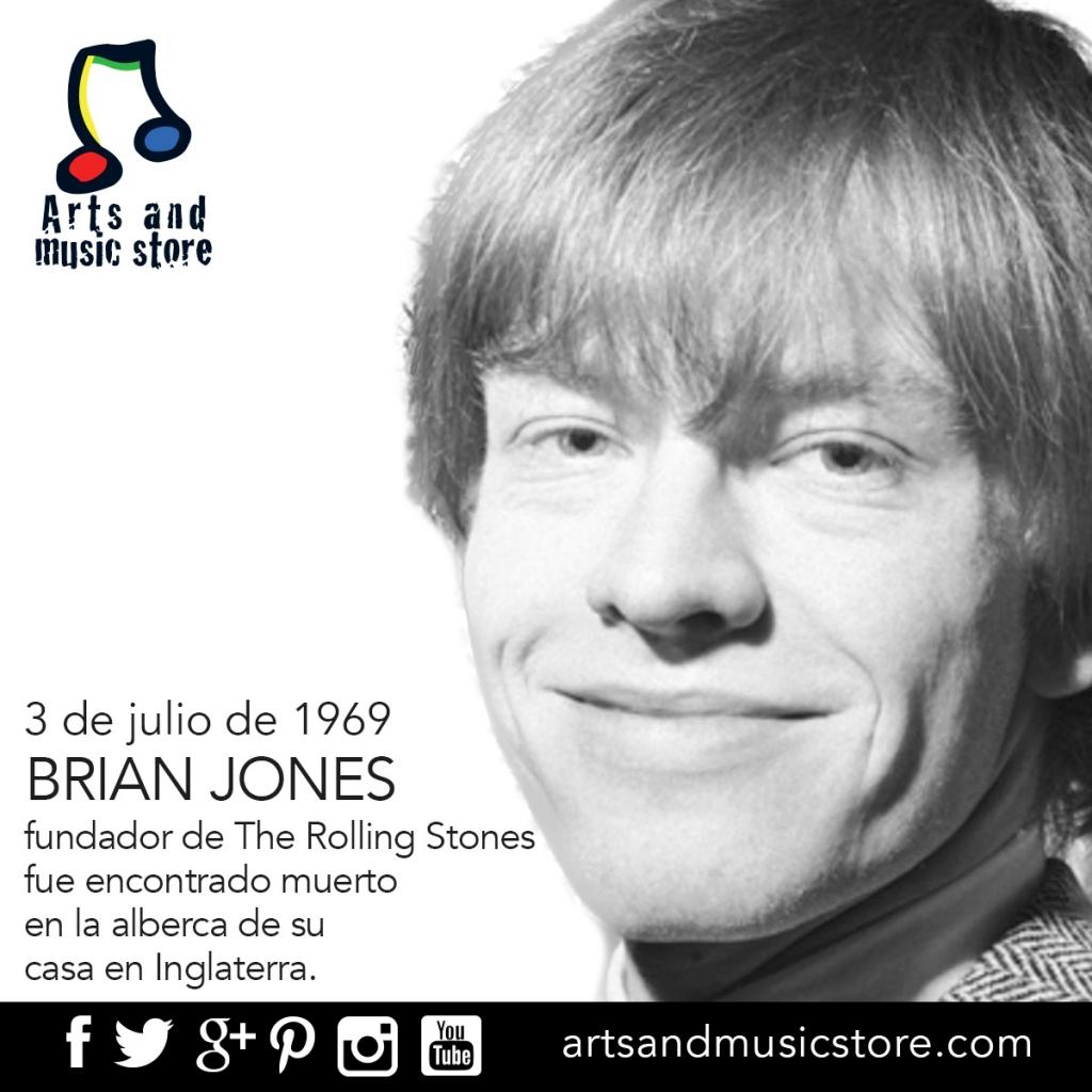 3 de julio de 1969, Brian Jones fundador de The Rolling Stones fue encontrado muerto en la alberca de su casa en Inglaterra.