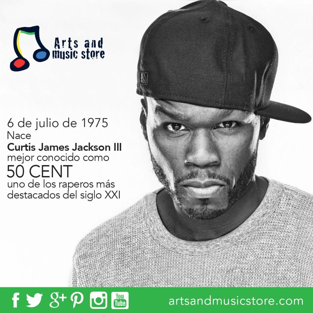 6 de julio de 1975 nace Curtis James Jackson III, mejor conocido como 50 Cent, uno de los raperos más destacados del siglo XXI