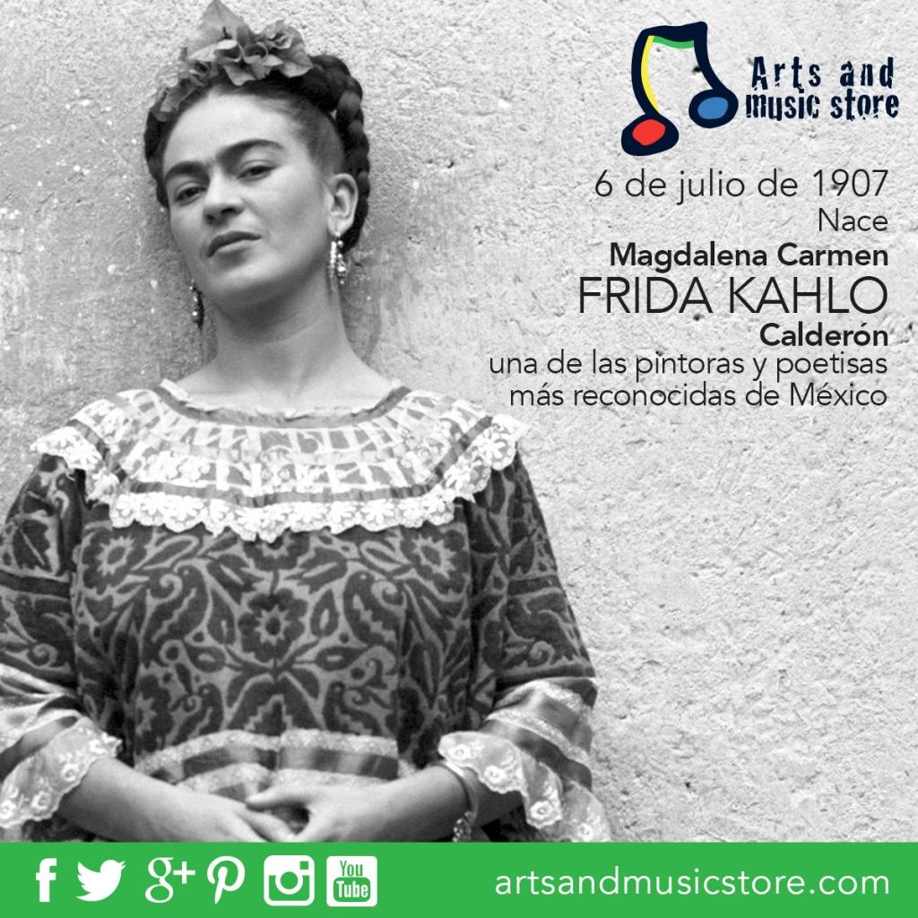 6 de julio de 1907 nace Magdalena Carmen Frida Kahlo Calderón, una de las pintoras y poetisas más reconocidas de México.