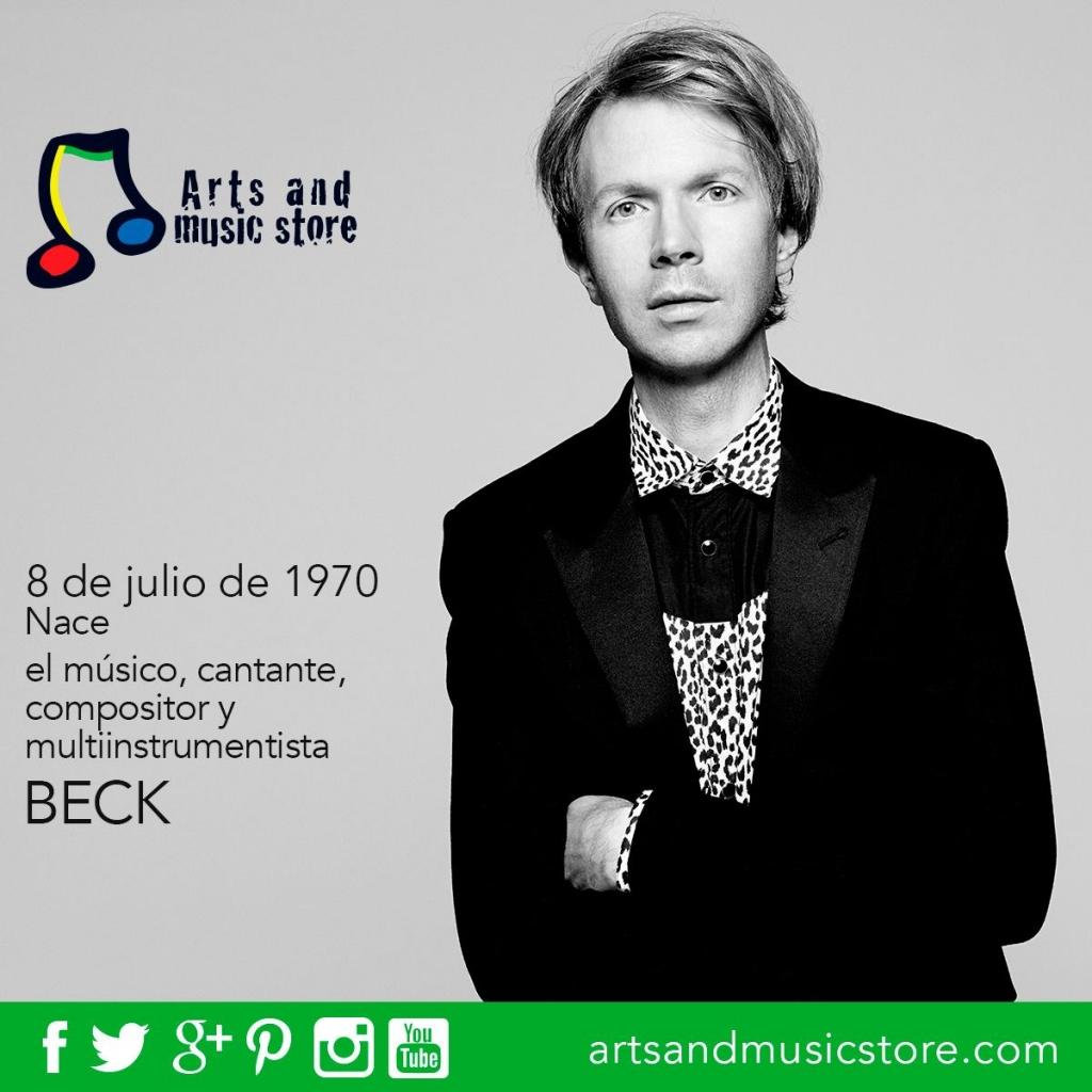 8 de julio de 1970, nace el músico, cantante, compositor y multiinstrumentista Beck.