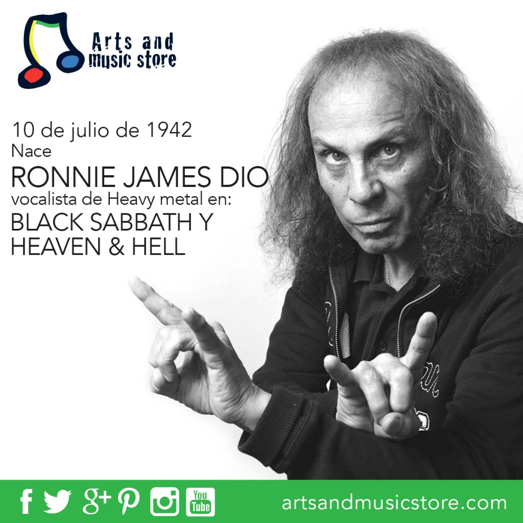 10 de julio de 1942 nace Ronnie James Dio vocalista de Heavy Metal en Black Sabbath, Heaven & Hell y Rainbow.